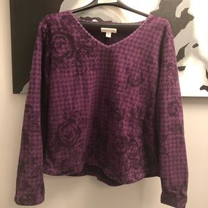 Coldwater Creek LG grape pullover - mint cond.!